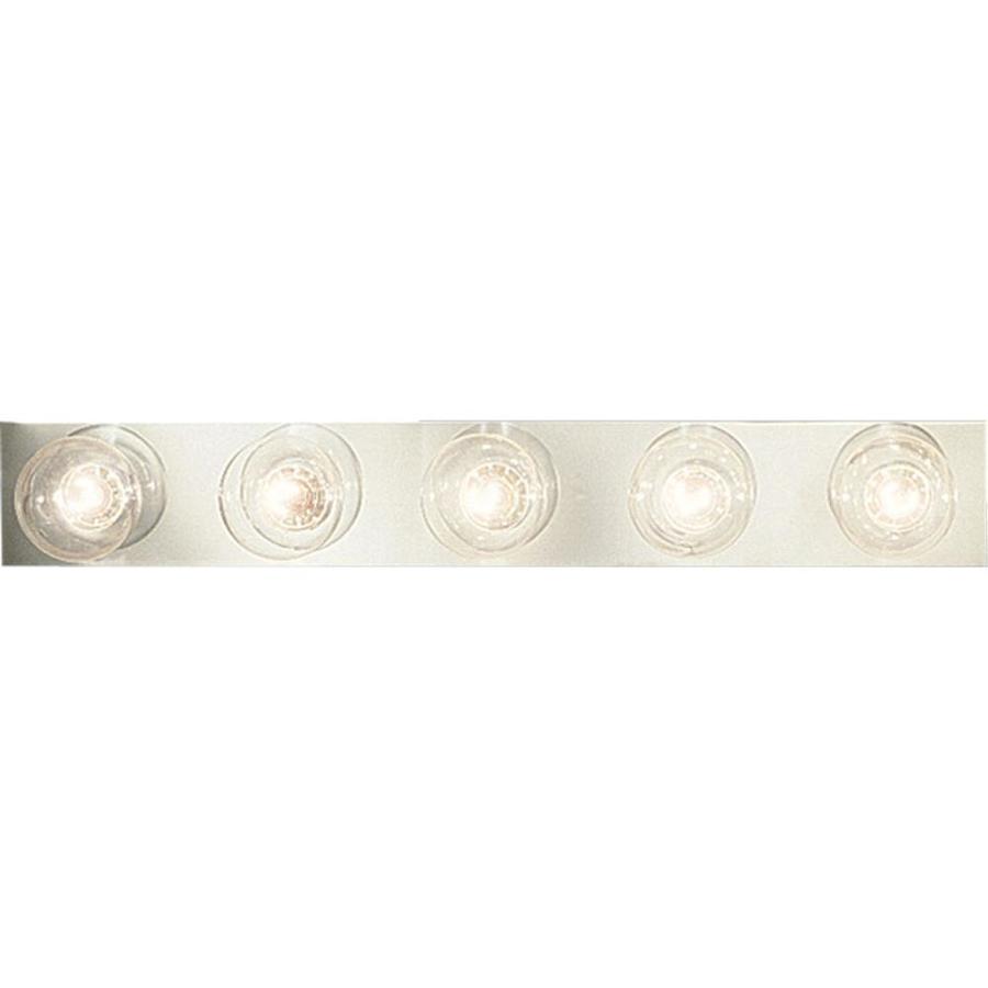 Progress Lighting Broadway 5-Light Polished Chrome Rectangle Vanity Light