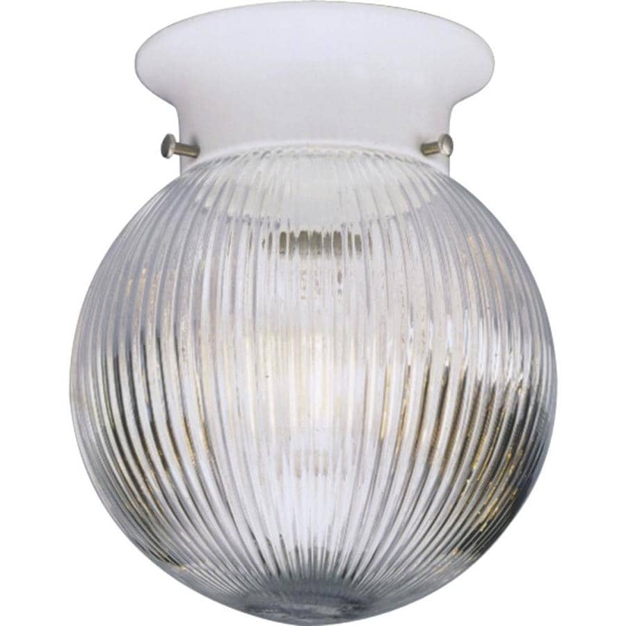 Shop Progress Lighting Glass Globes 6 In W White Ceiling