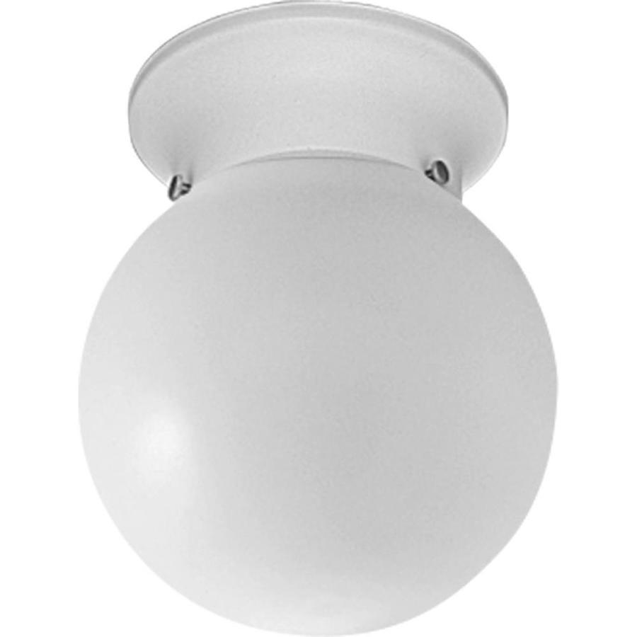 Progress Lighting Glass Globes 6-in W White Ceiling Flush Mount Light