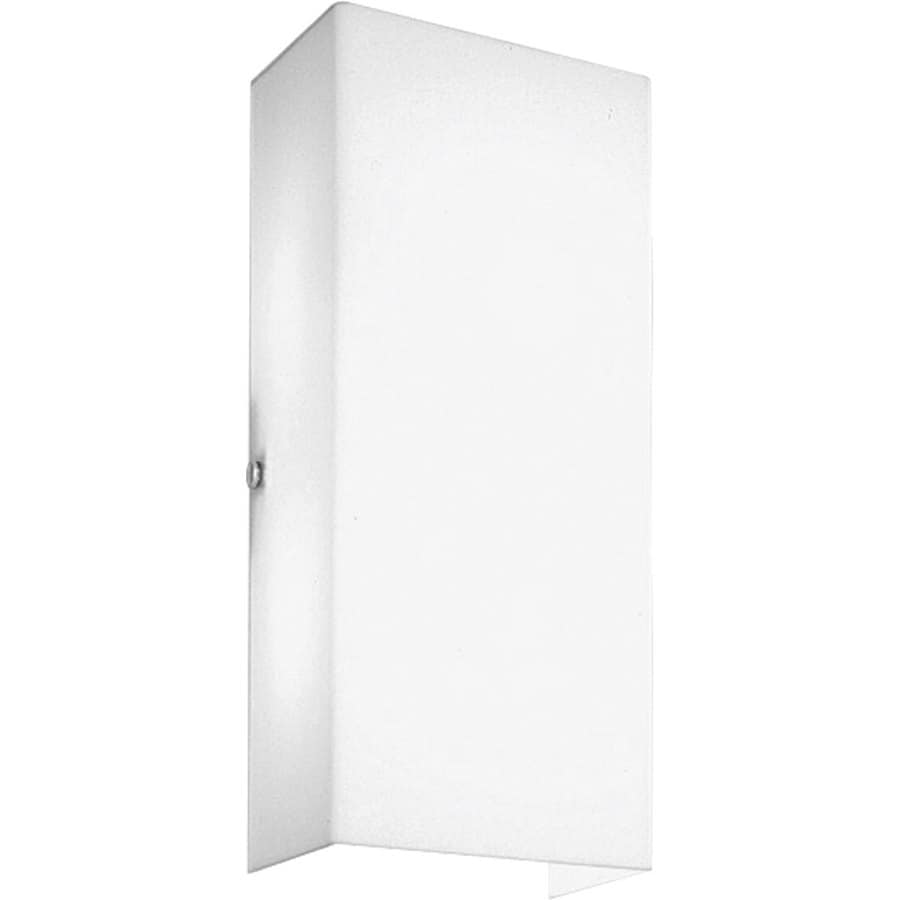 Progress Lighting 2-Light White Rectangle Vanity Light