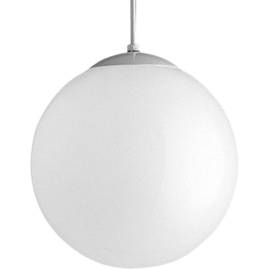 Progress Lighting 12-in White Single Bell Pendant