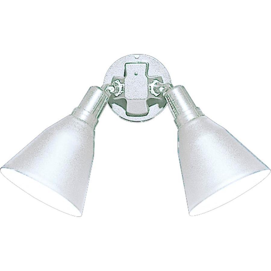 Progress Lighting 11.3125-in 2-Head Halogen White Switch-Controlled Flood Light