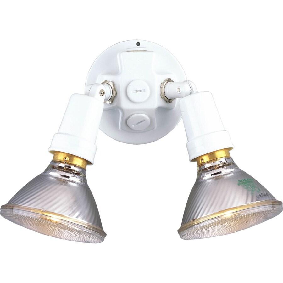 Progress Lighting 5.75-in 2-Head Halogen White Switch-Controlled Flood Light