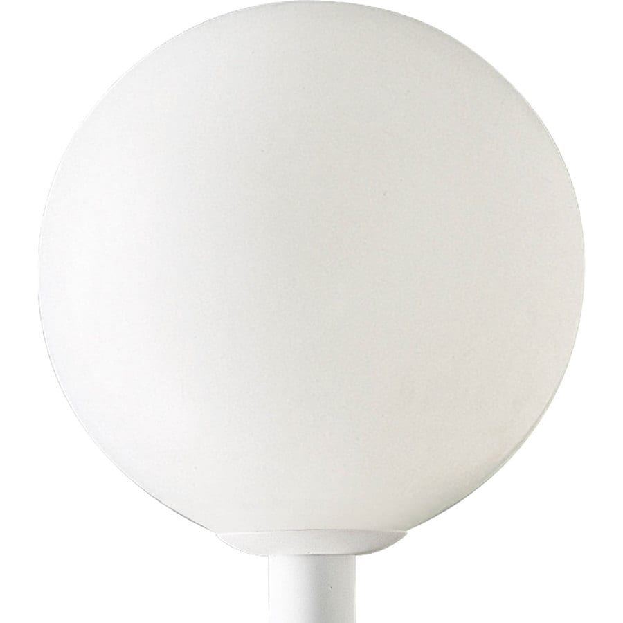 Progress Lighting Globe 17-in H White Post Light