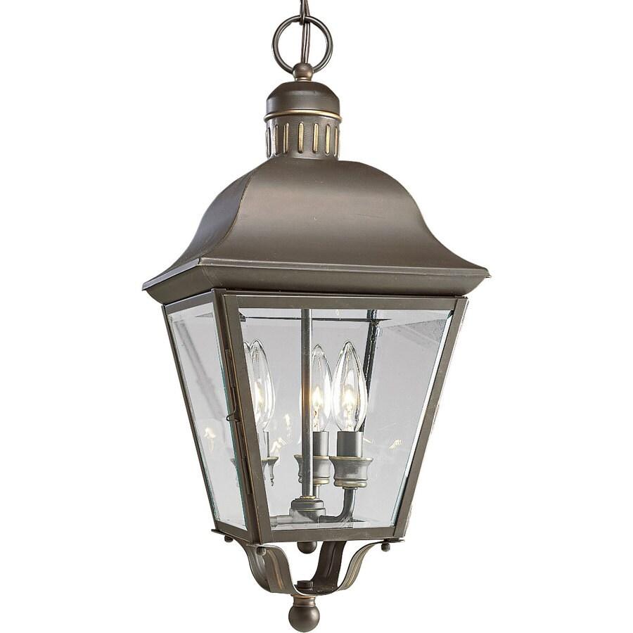 Progress Lighting Andover 20-in Antique Bronze Outdoor Pendant Light