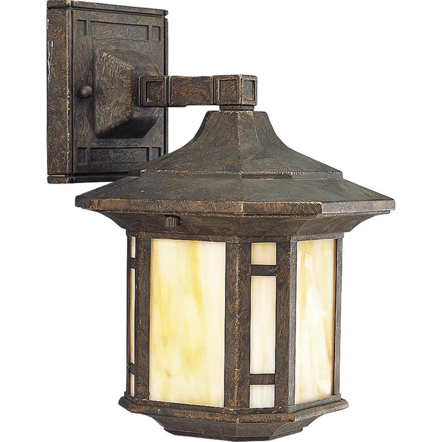 Progress Lighting Arts and Crafts 10.5-in H Weathered Bronze Outdoor Wall Light