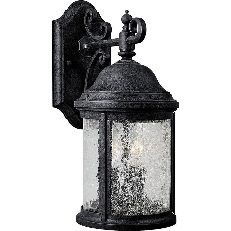 Progress Lighting Ashmore 14.81-in H Textured Black Outdoor Wall Light
