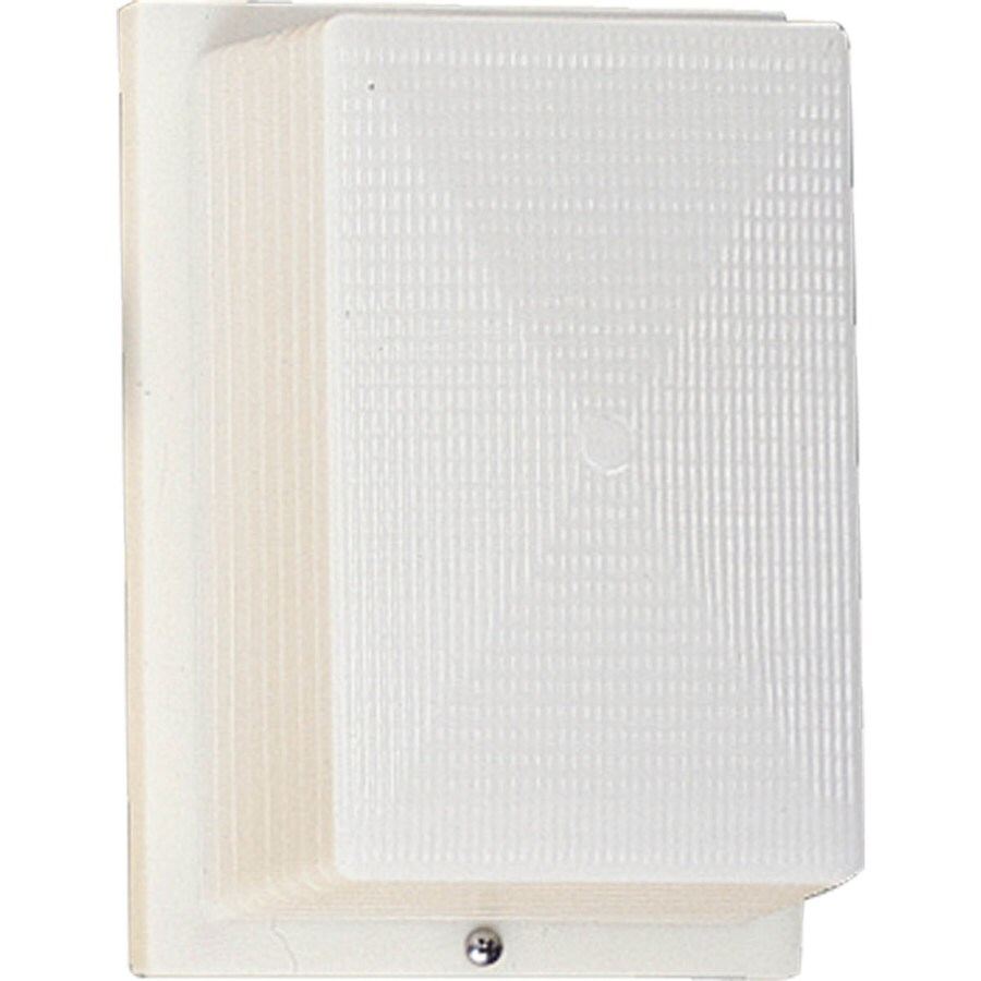Progress Lighting Hard-Nox 8.25-in H White Outdoor Wall Light