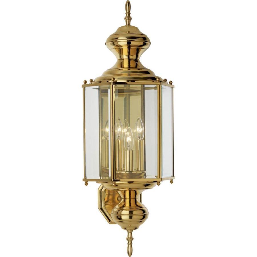 Progress Lighting Brassguard 26-in H Polished Brass Outdoor Wall Light