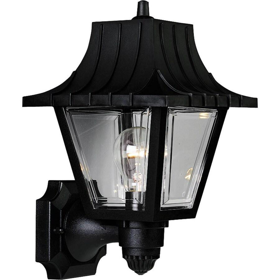 Progress Lighting Mansard 12.75-in H Black Outdoor Wall Light