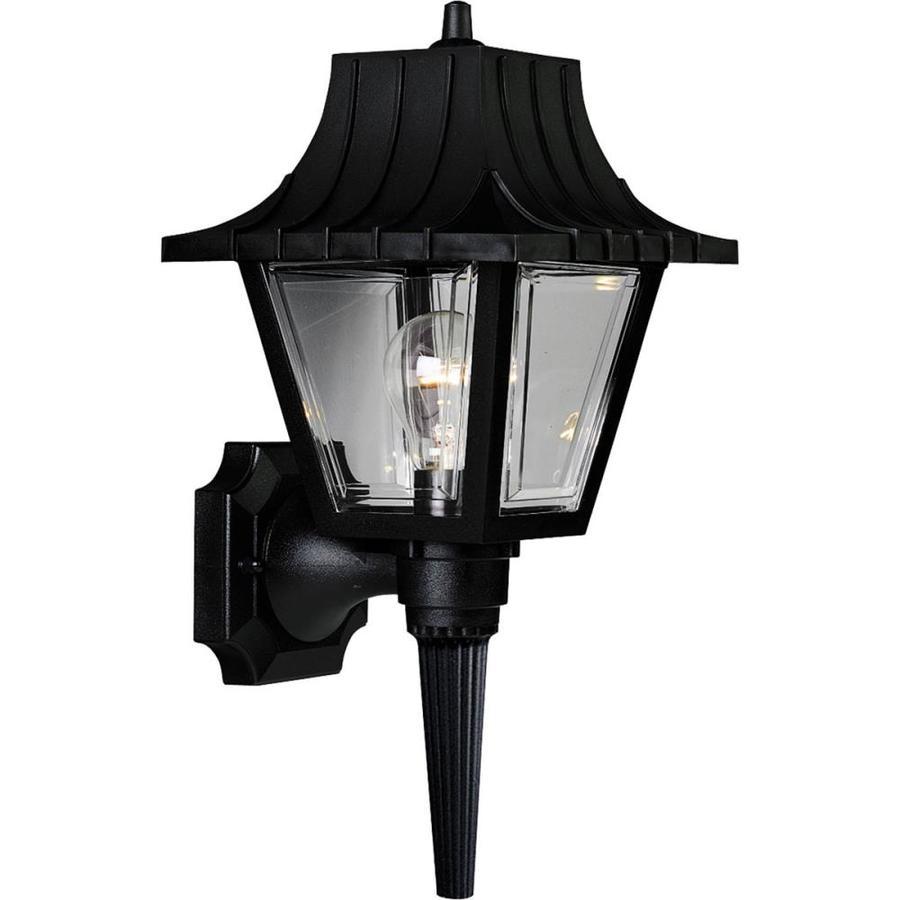 Progress Lighting Mansard 17-in H Black Outdoor Wall Light