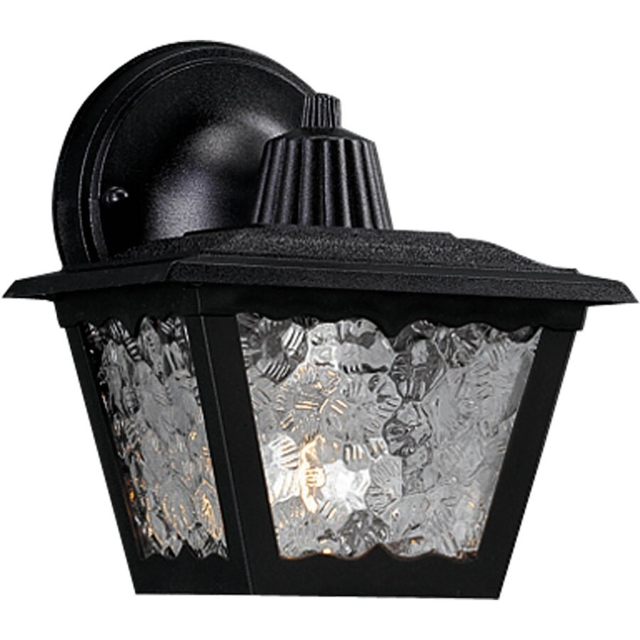Progress Lighting Polycarbonate 7.75-in H Black Outdoor Wall Light