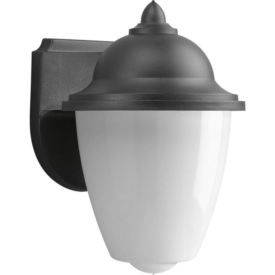 Progress Lighting Polycarbonate 8.75-in H Black Outdoor Wall Light