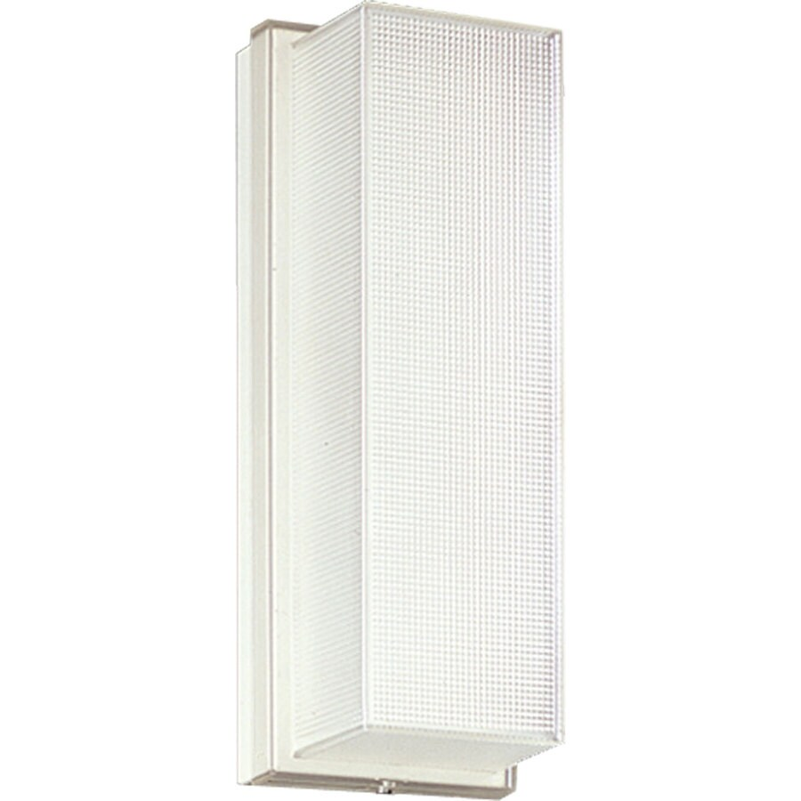Progress Lighting Hard-Nox 12.25-in H White Outdoor Wall Light