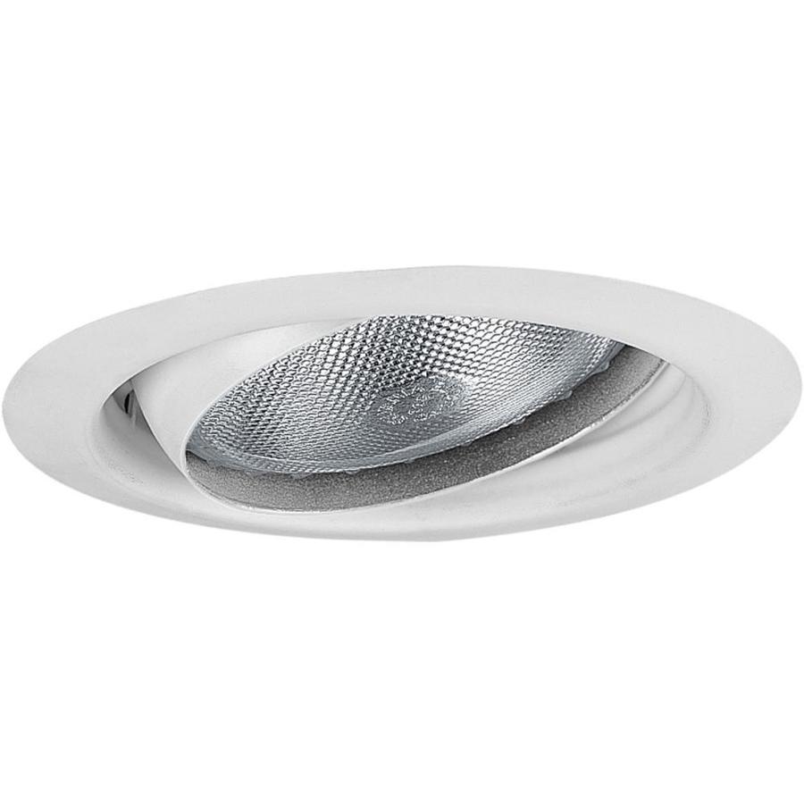 Progress Lighting White Eyeball Recessed Light Trim (Fits Housing Diameter: 5-in)