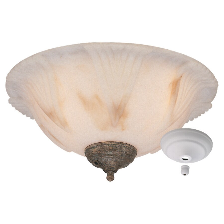 Sea Gull Lighting Cappucino Faux Alabaster Glass Ceiling Fan Light Kit
