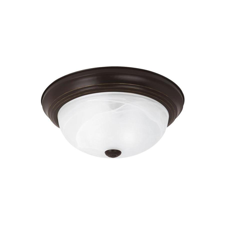 Sea Gull Lighting 13-in W Heirloom Bronze Ceiling Flush Mount Light