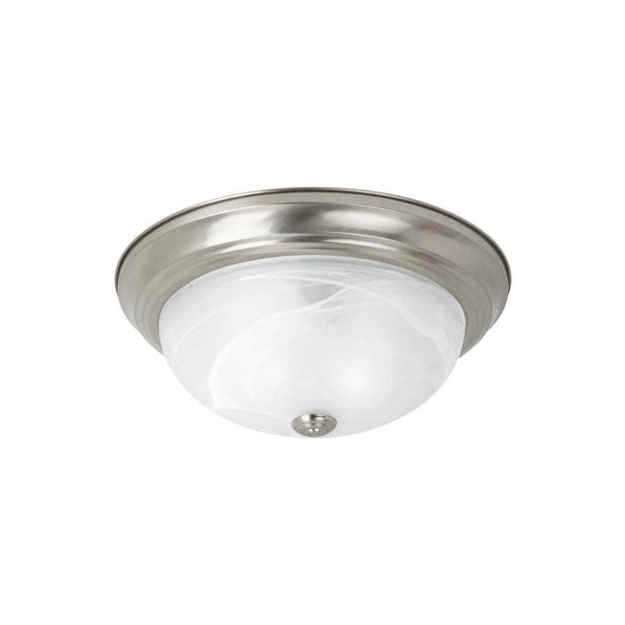 Sea Gull Lighting 15-in W Brushed Nickel Ceiling Flush Mount Light