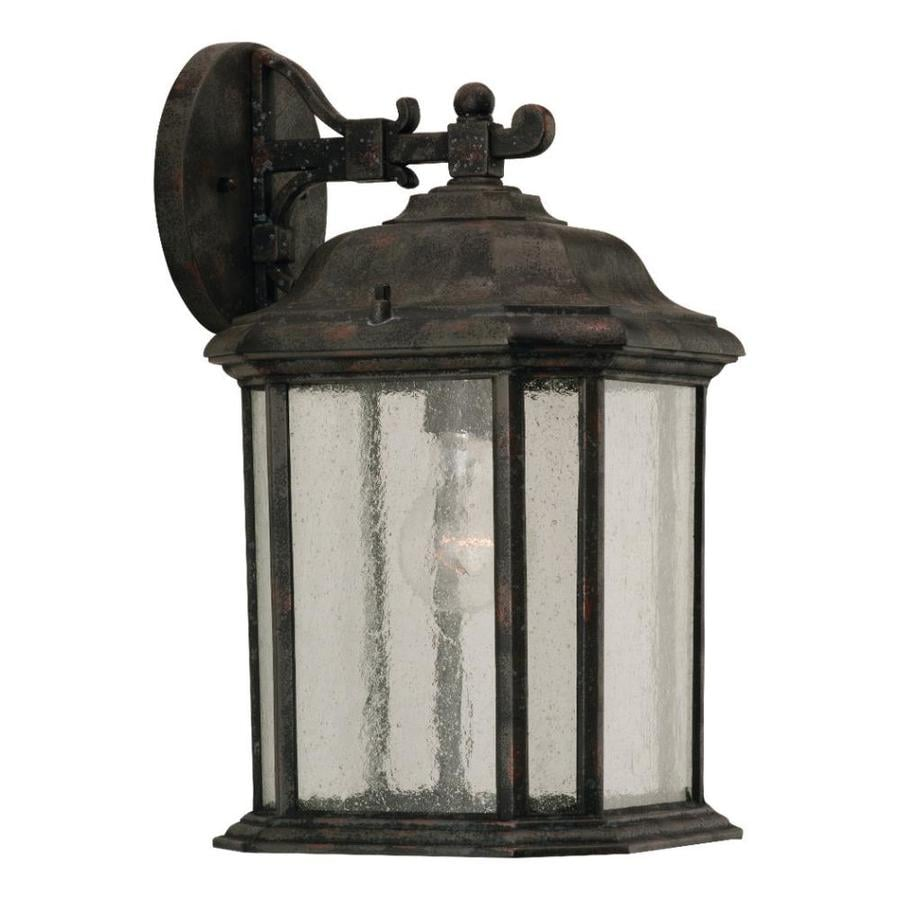 Sea Gull Lighting 14.5-in H Oxford Bronze Outdoor Wall Light