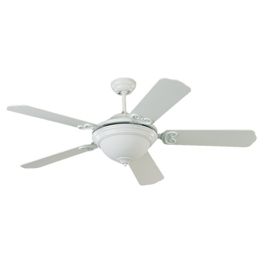 Sea Gull Lighting Park Avenue Elite 52-in White Multi-Position Ceiling Fan with Light Kit and Remote ENERGY STAR