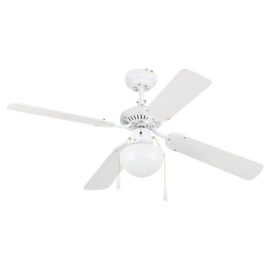 Sea Gull Lighting Hatteras Fans 42-in White Multi-Position Ceiling Fan with Light Kit (4-Blade)