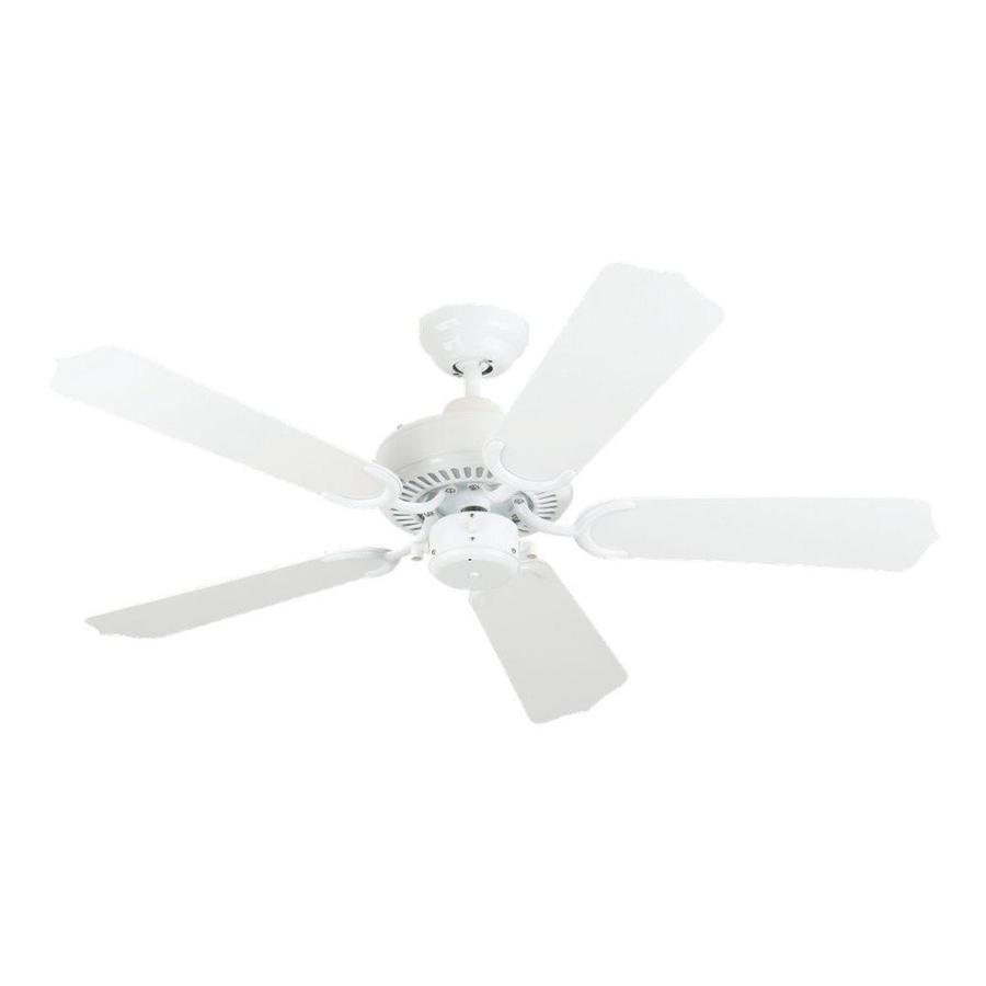 Sea Gull Lighting Bayou 42-in White Downrod or Flush Mount Ceiling Fan
