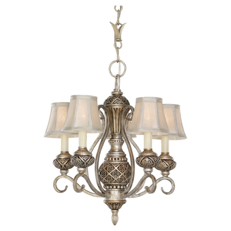 Sea Gull Lighting Highlands 16.25-in 5-Light Palladium Standard Chandelier