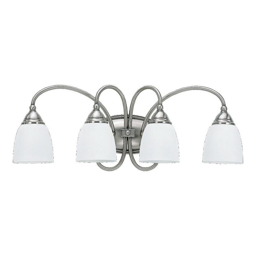Sea Gull Lighting 4-Light Montclaire Antique Brushed Nickel Bathroom Vanity Light