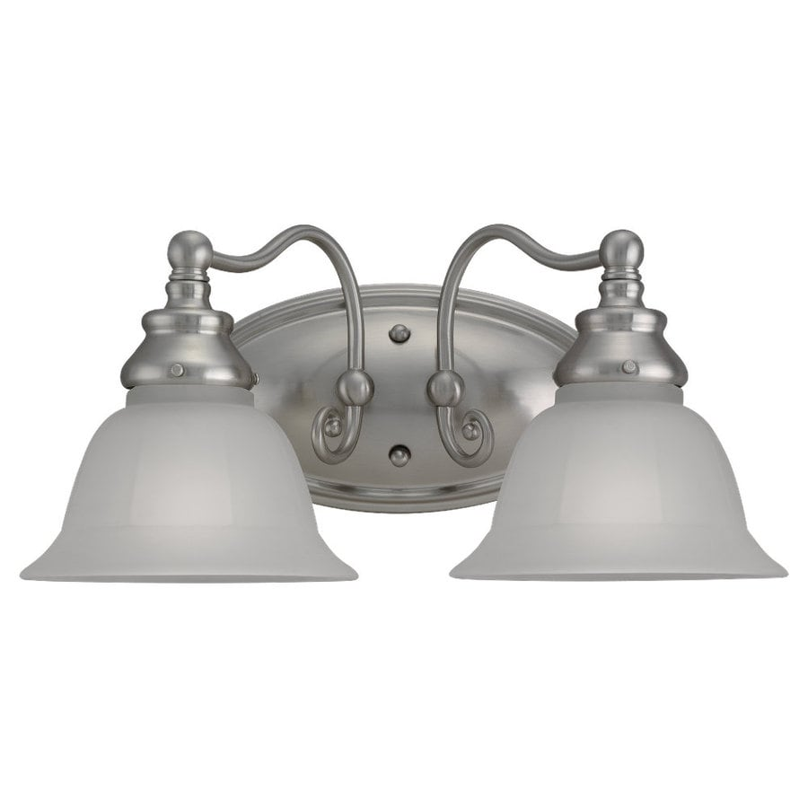 Sea Gull Lighting Canterbury 2-Light Brushed Nickel Vanity Light