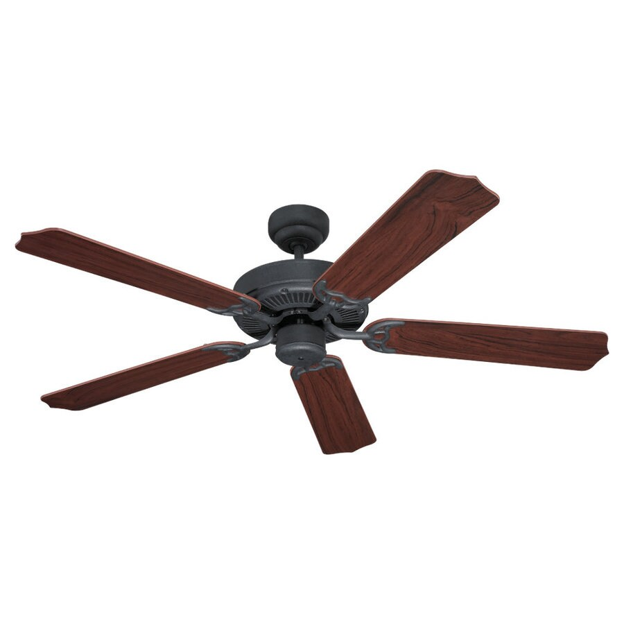 Sea Gull Lighting Quality Max 52-in Weathered Iron Downrod or Flush Mount Ceiling Fan ENERGY STAR