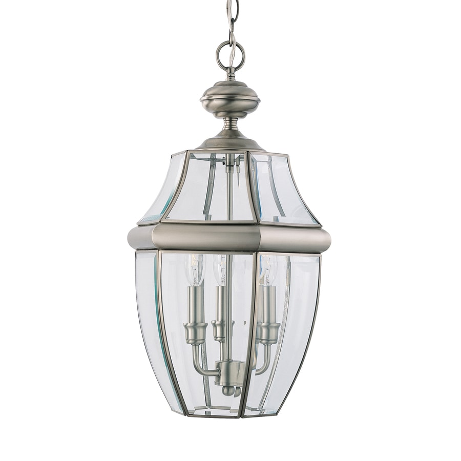 Sea Gull Lighting 20.75-in Antique Brushed Nickel Outdoor Pendant Light