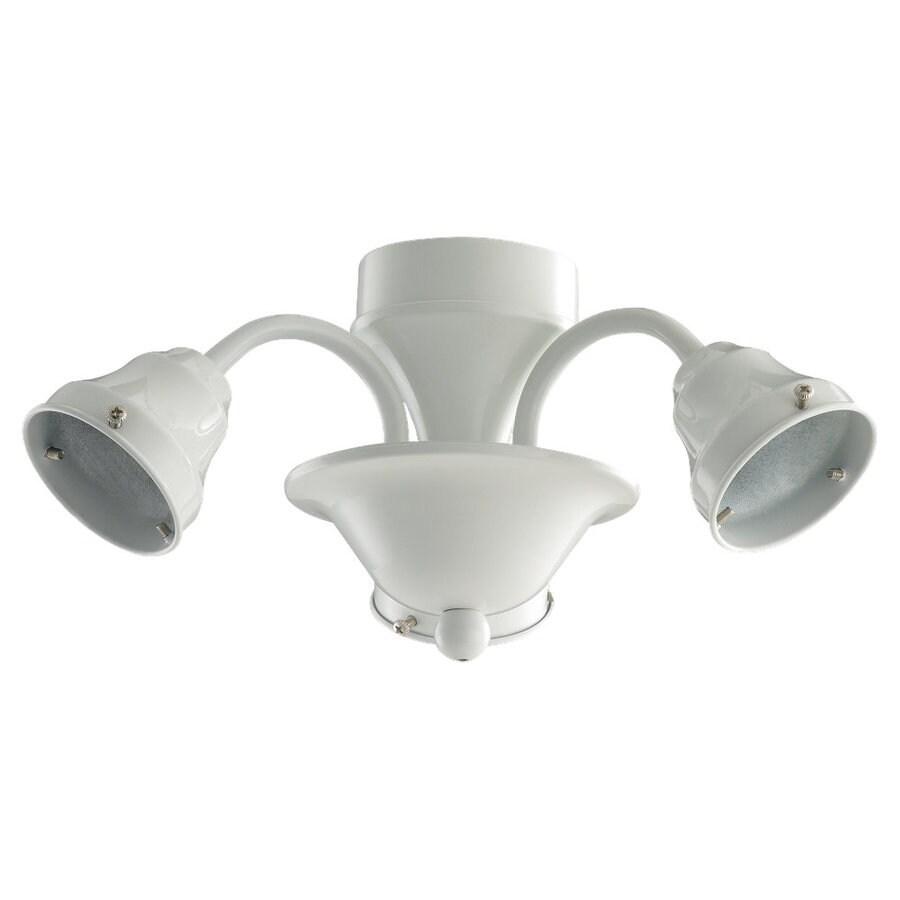 Sea Gull Lighting 3-Light White Ceiling Fan Light Kit