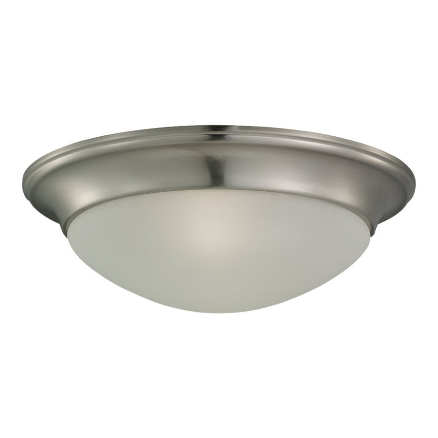 Sea Gull Lighting 14-in W Brushed Nickel Flush Mount Light