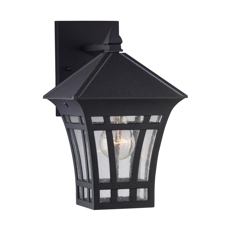 Sea Gull Lighting 11.56-in H Black Outdoor Wall Light