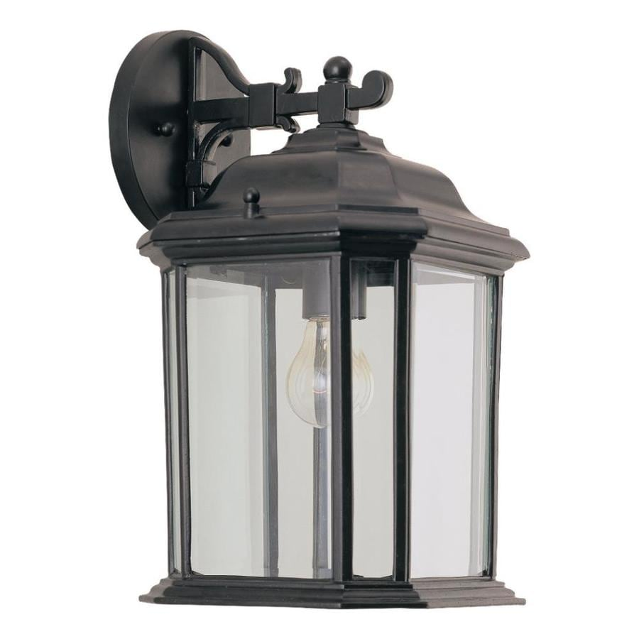 Sea Gull Lighting 14.5-in H Black Outdoor Wall Light