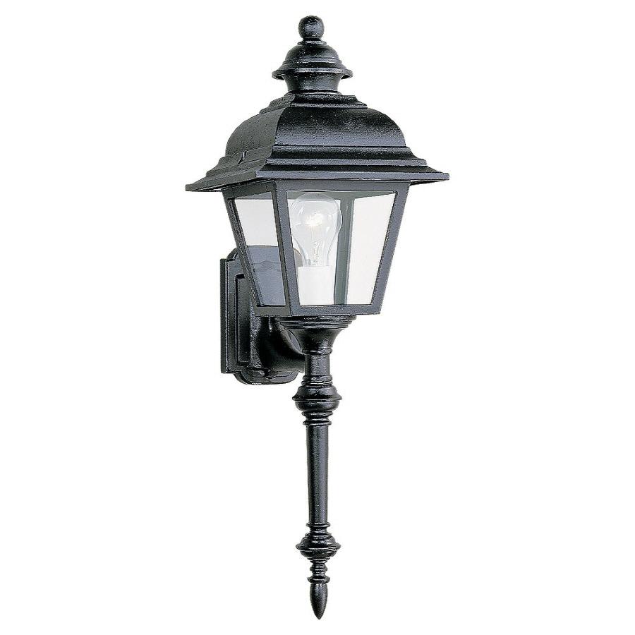 Sea Gull Lighting 26-in H Black Outdoor Wall Light