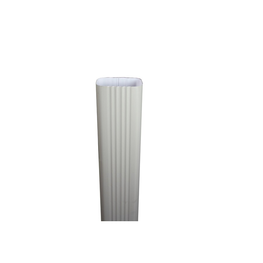 Spectra 2-in Colonial Gray Metal Downspout