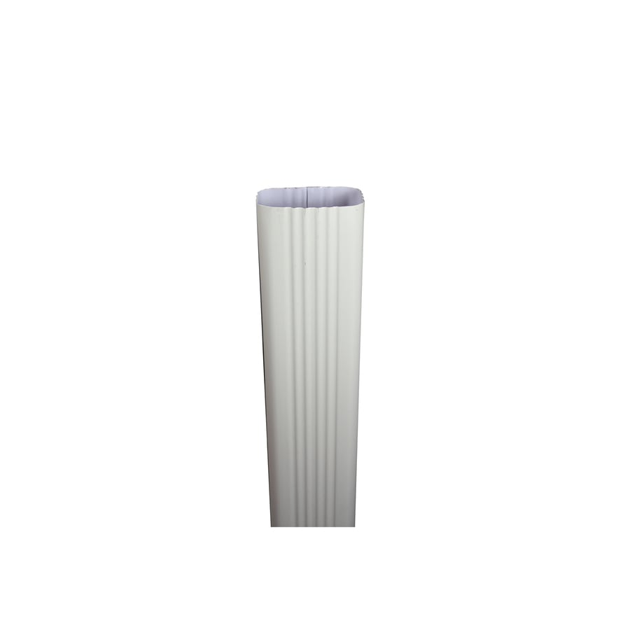 Spectra 2-in Cream Metal Downspout