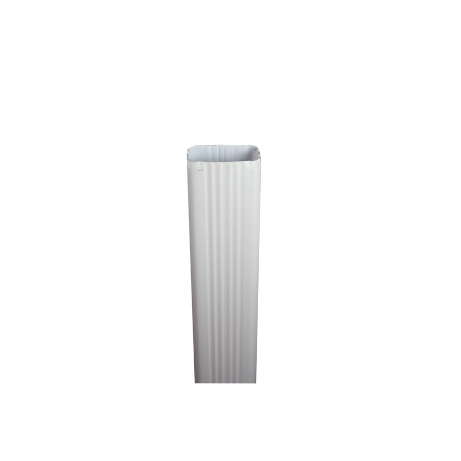 Spectra 2-in Eggshell Metal Downspout