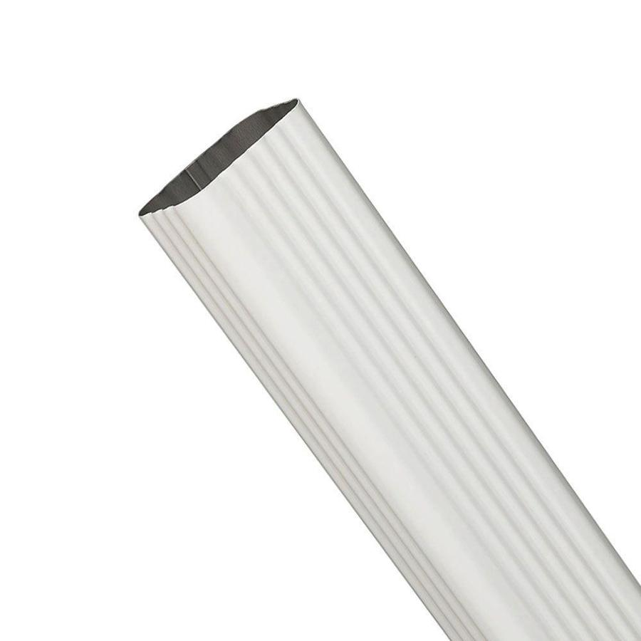Spectra 3-in White Metal Downspout