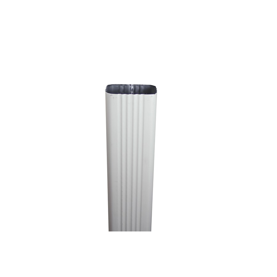 Spectra 3-in Almond Metal Downspout
