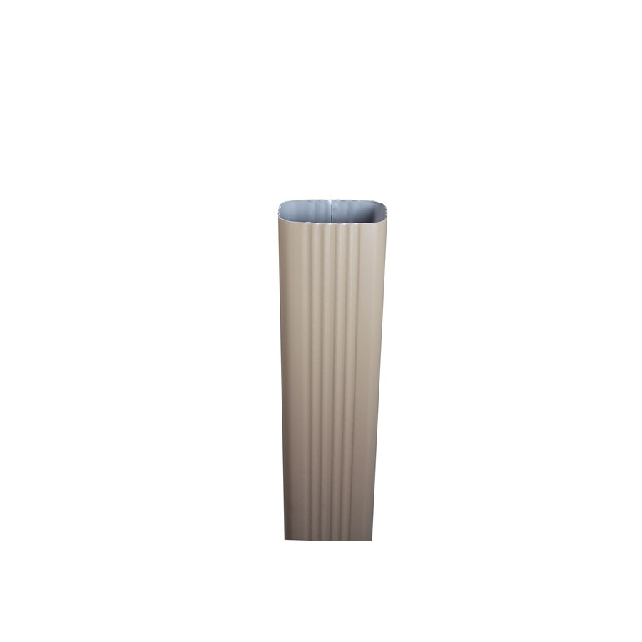 Spectra 3-in Cocca Brown Metal Downspout