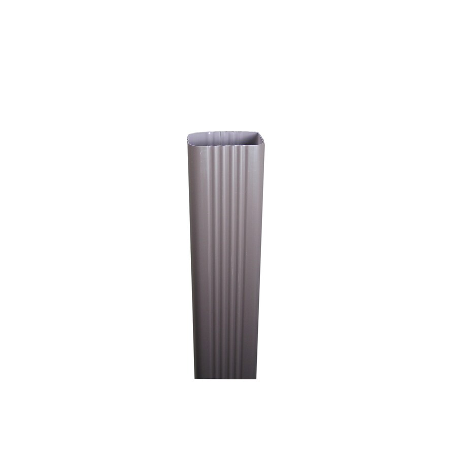 Spectra 3-in Musket Brown Metal Downspout