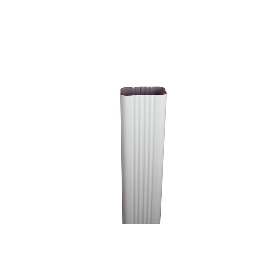 Shop Spectra 2-in Low Gloss White Metal Downspout ...