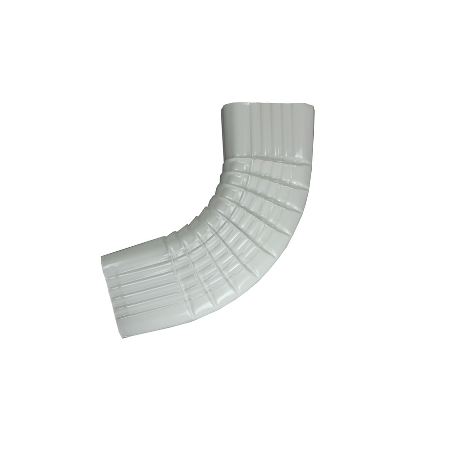 Spectra 2-in High Gloss White Metal Side Elbow