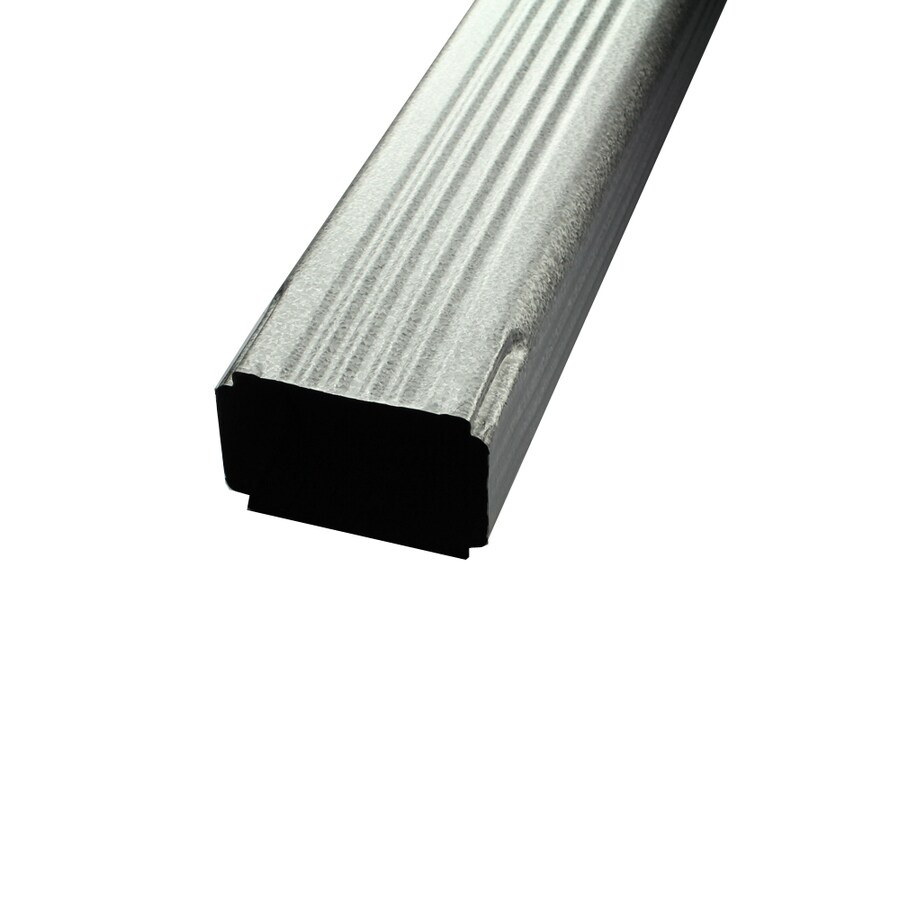 Spectra 3-in Clear Metal Downspout