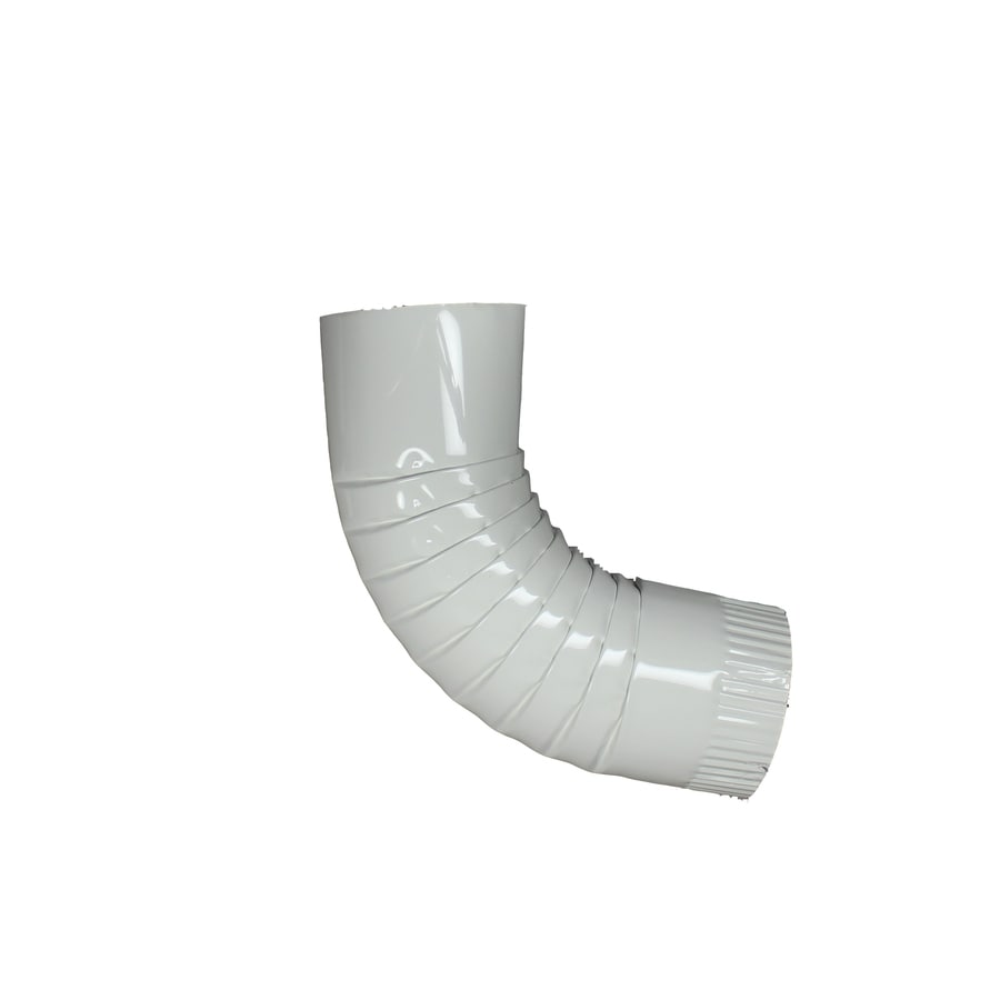 Spectra 4-in High Gloss White Metal Front Elbow