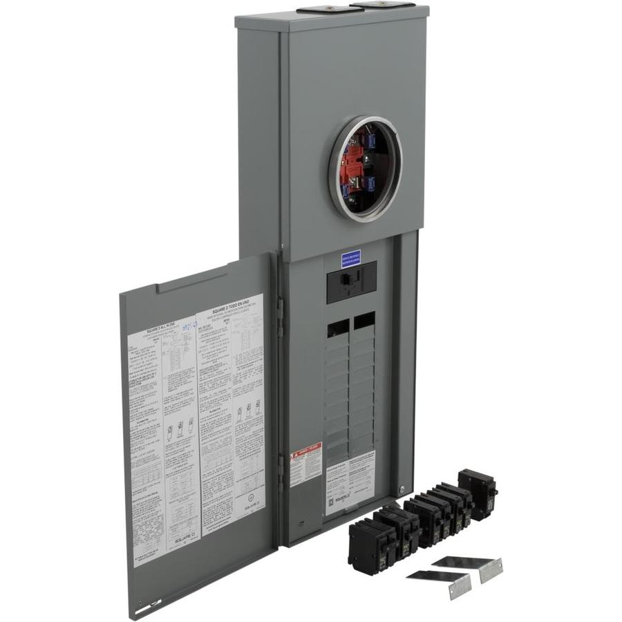 Outdoor Meter Socket Main Breaker Load Center Combo 200 Amp 20 Space 40 Circuit