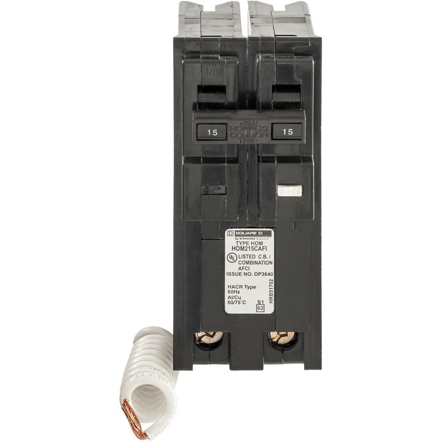 Square D Homeline 15-Amp 2-Pole Combination Arc Fault Circuit Breaker