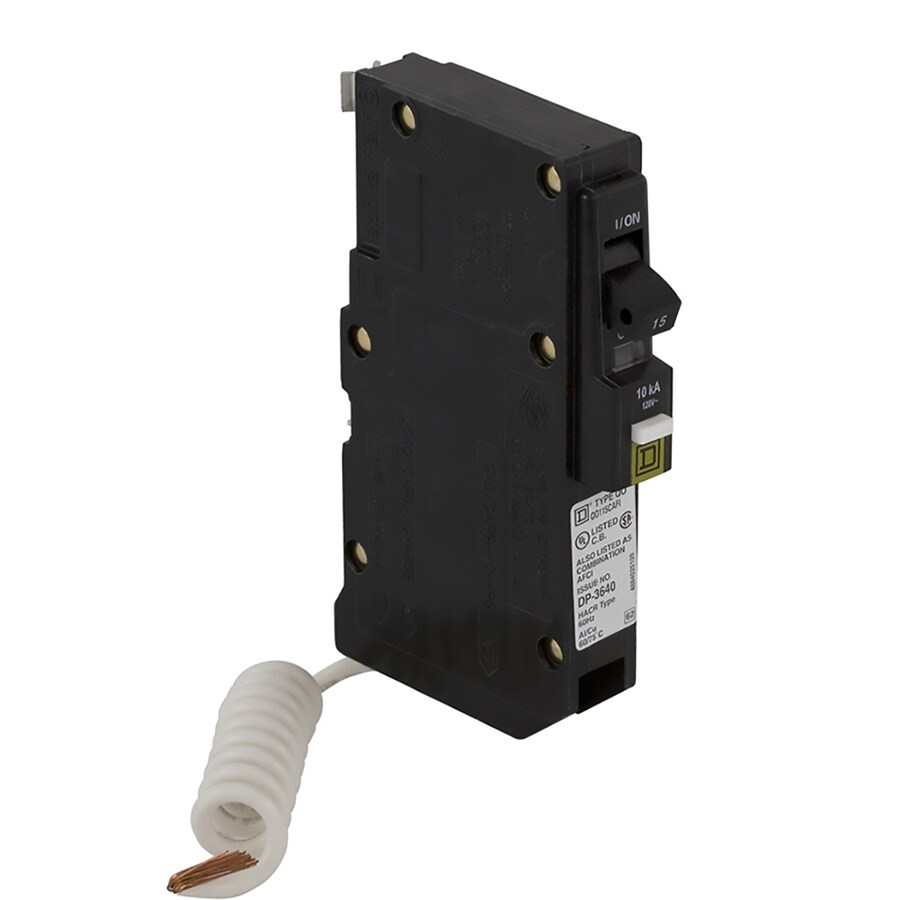 Square D QO 15-Amp 1-Pole Combination Arc Fault Circuit Breaker